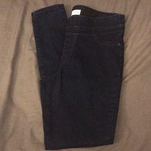 Old Navy Super Skinny Dark Wash Slip On Jeans